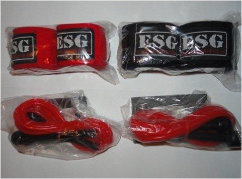 Ensemble bandages de main et corde à sauter - Boxe, kick boxing, MMA