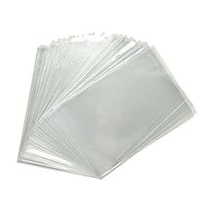 100x Clear Flat Cello/Cellophane Treat Bag 2x4 inch (1.2mil) Gift Basket Supplies
