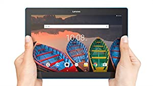 Lenovo Tab 10, 10-Inch Android Tablet, Qualcomm Snapdragon 210 Quad-Core 1.3 GHz Processor, 16 GB Storage, Slate Black, ZA1U0003US