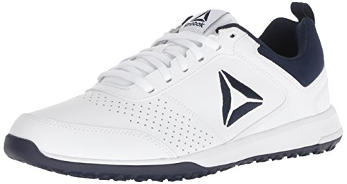 Reebok Men's CXT Cross Trainer, White/Collegiate Navy/SIL, 11 M US