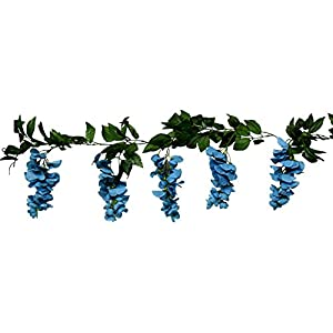 Wedding Flowers 6' Wisteria Garland Artificial Silk Home Decorations 50