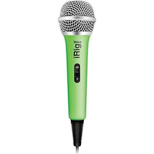 IK Multimedia iRig Voice (green) karaoke microphone for smartphones and tablets (Best Guitar Tab App For Ipad)