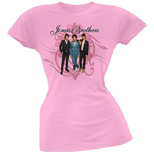 Jonas Brothers - Crest Swirl Girls Youth T-Shirt (Jonas Brothers Rock)