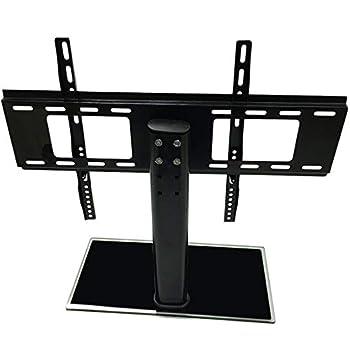 Adjustable Universal Tv Stand Pedestal Base Wall Mount Flat Screen Tvs, 26-32/37-55 inch Adjustable Movable Folding Universal TV Stand Pedestal Base Wall Display Rack Mount Flat Screen TVs