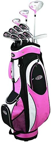 Golf Girl FWS2 Petite Lady Pink Hybrid Club Set Cart Bag