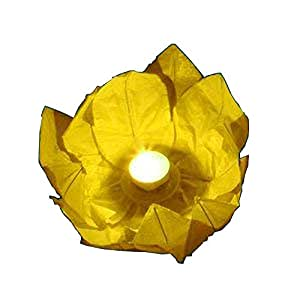 4 x color amarillo fults/estanque/agua flotandoen Linternas
