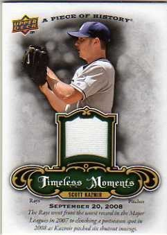 2009 UD A Piece of History Timeless Moments Jersey #TMSK Scott Kazmir Jersey Card