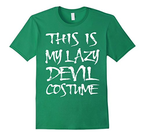 Mens Halloween Devil Demon Costume Funny T-shirt 3XL Kelly (Green Demon Costume)