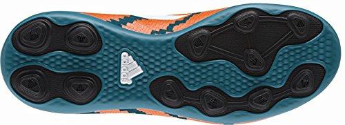 Adidas - Messi 104 Fxg J - B32718 - Color: Azul-Blanco-Naranja - Size: 38.6