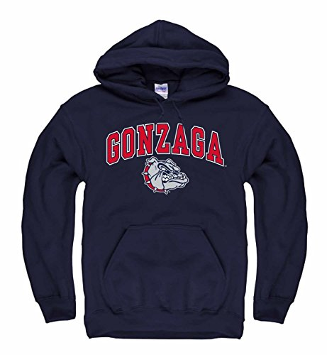 Campus Colors Gonzaga Bulldogs Arch & Logo Gameday Hooded Sweatshirt - Navy, Large