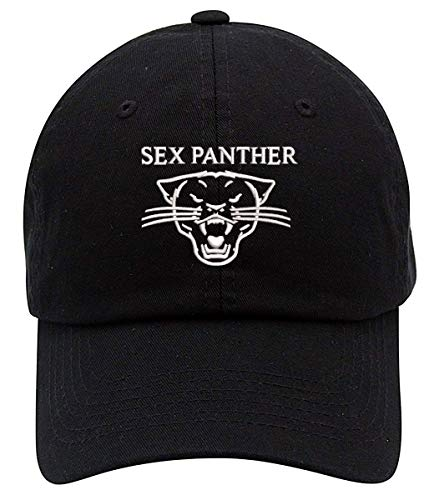 TOP LEVEL APPAREL Old School Sex Panther Embroidered Low Profile Soft Crown Unisex Baseball Dad Hat Black]()