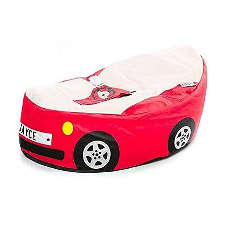 Royal Blue Rucomfy Luxury Cuddle Soft Racing Car Gaga Baby Bean Bag