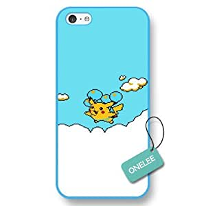 Onelee(TM) Pocket Monster Hard Plastic iPhone 5C Case & Cover - Pikachu iPhone Case & Cover - Blue