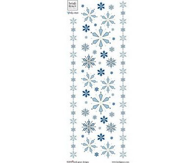 Heidi Grace - Snowflake Park In Bloom - Flowers and Borders Rub-ons