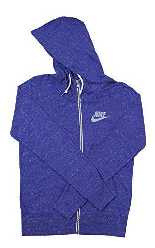 Nike Womens Gym Vintage Full Zip Hoodie (Medium, Blue)