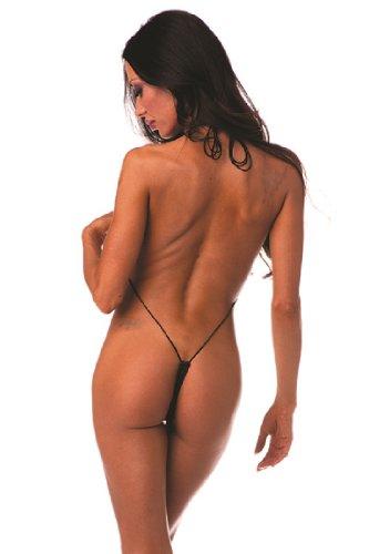 Black Teeny Weeny Sling Shot Micro Bikini - ONE SIZE