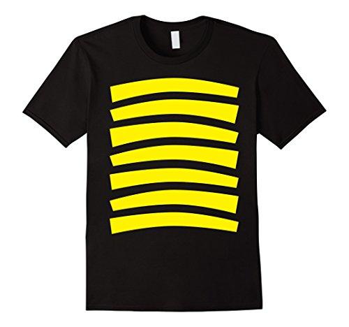 Mens Bee Costumes (Mens Bee Costume FRONT AND BACK - Bumblebee Halloween Shirt Medium Black)