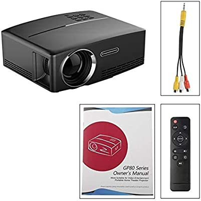 JesseBro76 GP80 Mini proyector portátil 1080P LED LCD Proyector ...