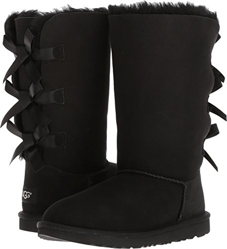 UGG Kids K Bailey Bow Tall II Pull-On Boot, Black, 5 M US Big Kid by UGG