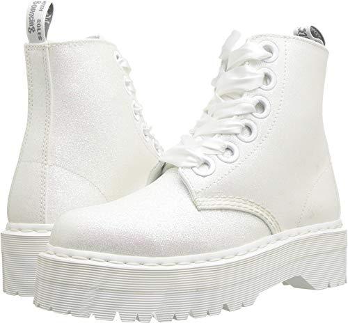 - Dr. Martens Womens Molly Glitter Iridescent White Boot - 8 UK