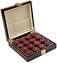 Quantum Abacus Premium Xiangqi: Professional, Heavy Pieces for Chinese Chess / Xiangqi, Made of acryl Glass, Size M: Diamete