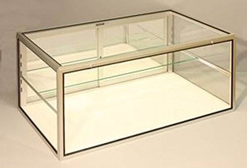 Portable Jewelry Display Showcase Glass Locking Counter Top Case 34'' W x 22'' D x 16'' H Knockdown Made in USA New by Bentley's Display