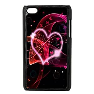 ipod touch 4 phone cases Black Heart Pattern cell phone cases Beautiful gifts YWTS0416756