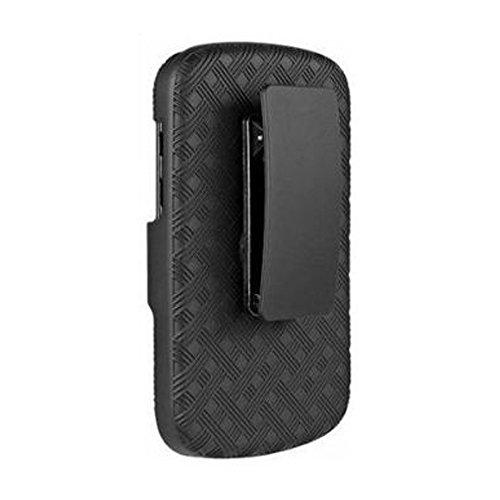 Amzer AMZ95781 Shellster Shell Holster Combo Case Cover for BlackBerry Q10 - Retail Packaging - Black
