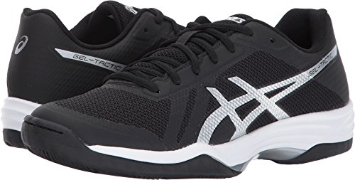 2 Volleyball Shoe (ASICS Women's Gel-Tactic 2 Volleyball Shoe, Black/Silver/White, 9.5 Medium US)