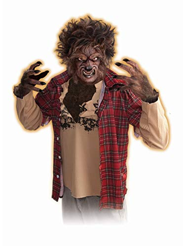 Forum Novelties Men's Werewolf Latex Claw Hands Costume Accessory, Brown, One -