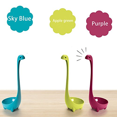 DASARA 3pcs Nessie Loch Soup Ladle Upright Ness Monster Design Bar Blue (Ice Sauce Ladle)