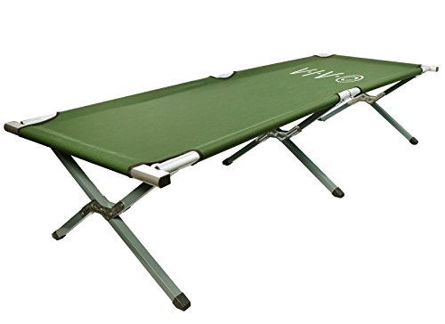 VIVO Green Camping Cot, Fold up Bed, Carrying Bag (COT-V01)