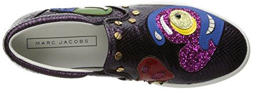 Marc Jacobs Womens Mercer Heart Skate Fashion Sneaker Dark Purple/Multi 9TisI9b3