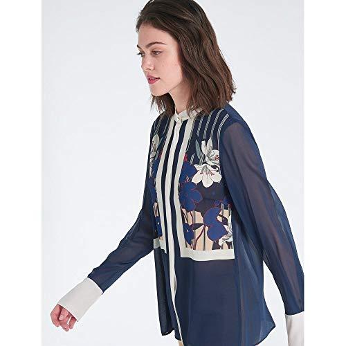 Marino Camisa Edizione Pennyblack Mujer Azul Para wX5wFRdq
