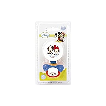 Set Sujeta Chupete + Chupete Caucho 4+ Mickey: Amazon.es ...