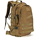 50 L Mountaineering Backpack Camping Hiking Trekking Rucksack Travel Bag (brown)