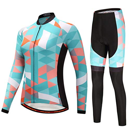 Women Road Bike Cycling Jersey Sets Long Sleeve Jersey Pro Team Cycling -