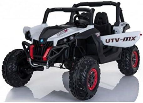 Coche eléctrico 2plazas 24V Buggy utv-mx blanco–Pack Luxe