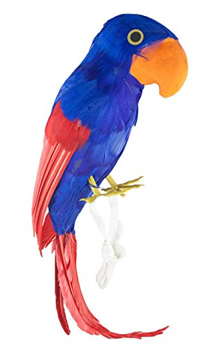 [Pirate Shoulder Parrot Hawaiian Strap-on Luau Party Costume Accessory Prop Bird] (Parrot Costume Wings)