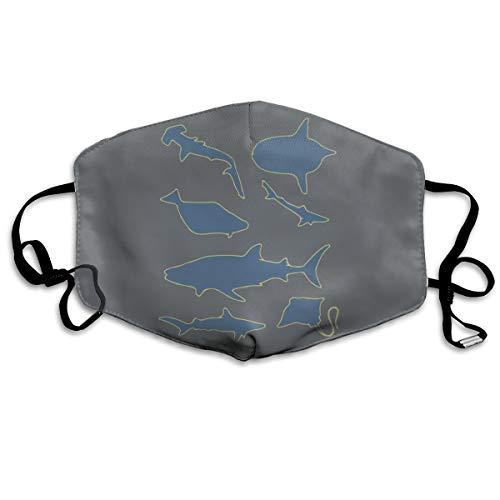 SyjTZmopre Sharks and Stingrays Mouth Mask Unisex Printed Fashion Face Anti-dust Masks]()