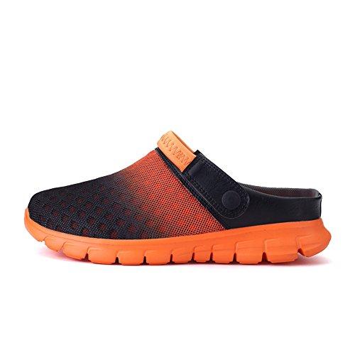 Sandale Clog Männer Schuh Mesh Unisex Summer Orange Sommer Clog Frauen Strand Leichte Nasonberg Komfortable B18SWf