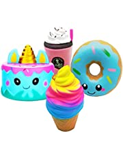 Slow Rising Squishy Toys,Slow Rising Jumbo Squishies Pack Stress Relief Squeeze Gift Set for Kids Adults by KEYS.