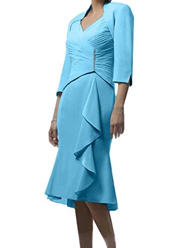 Knielang Blau Damen Partykleider Brautmutterkleider Festlichkleider Kurz Champagner Charmant Himmel Abendkleider Etuikleider dqtOwEEZ