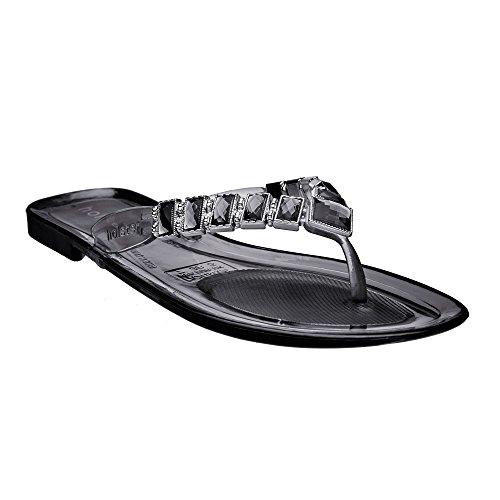 695389710f8f Women s Australian Vegan Jeweled Dazzle Flat Jelly Sandals