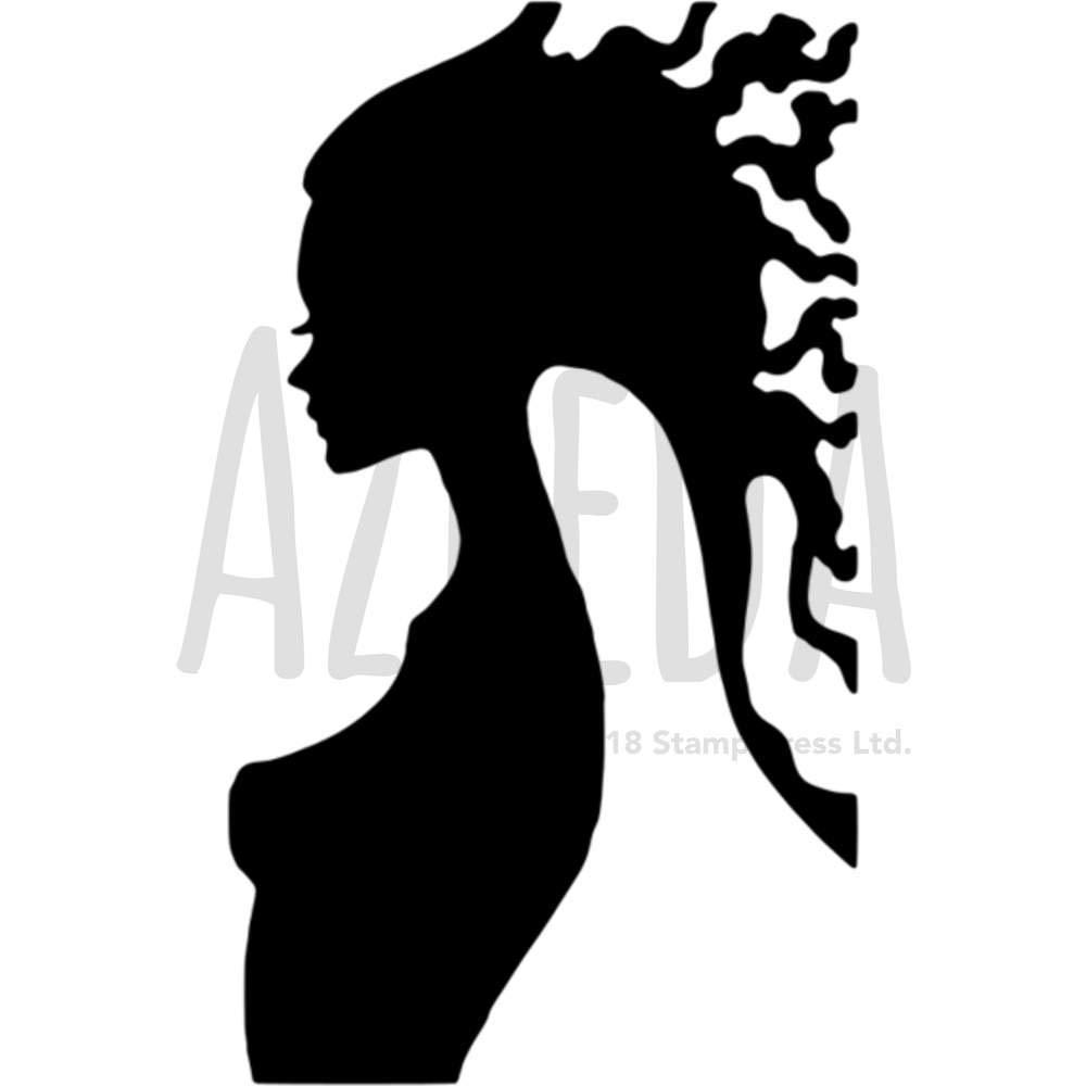 A5「女性シルエット」壁用ステンシル/テンプレート (WS00003194) B073PNKQX3