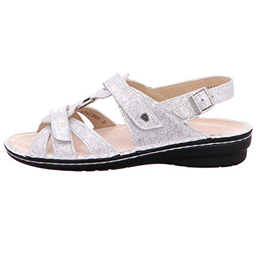 Finn Comfort 82801-551297 - Sandalias de vestir de Piel para mujer Plateado
