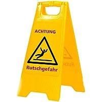 Señal Aviso Precaución con resbalarse deslizamiento en alemán