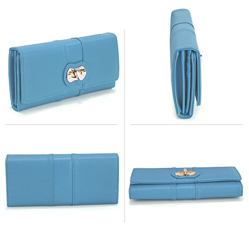 Handbag Zip Large Luxury Wallet Card Ladies Women Design Long New Blue 1 Purses Designer Holder PBAISq