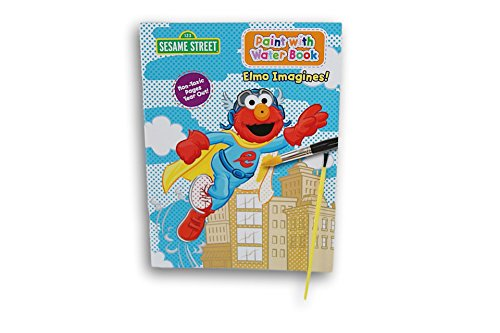 (Sesame Street Elmo Imagines Paint with Water Book with Paintbrush)