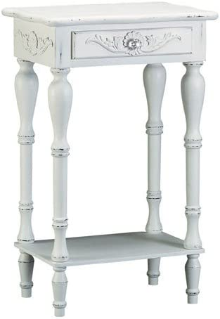 Malibu Creations White Chateau Accent Table